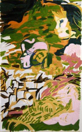 Flora & Fauna 1 Oil on canvas, H153cm x W86cm
