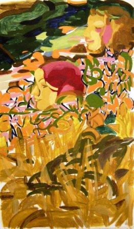 Flora & Fauna 2 Oil on canvas, H153cm x W86cm