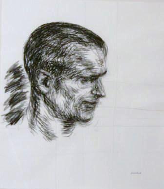 Gavin; portrait in charcoal; Antonia mcGuane