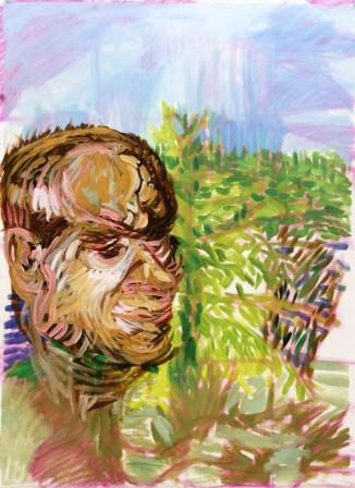 Oil on canvas H 76cm x W 54cm