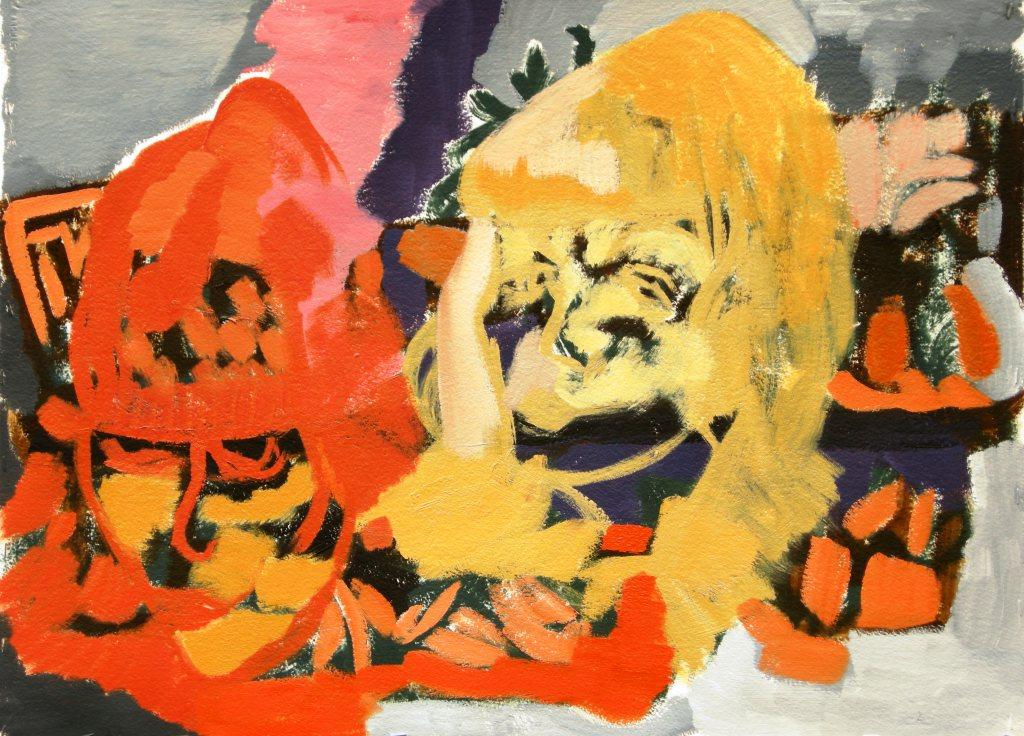 Oil on primed watercolour paper H 56cm x 76cm