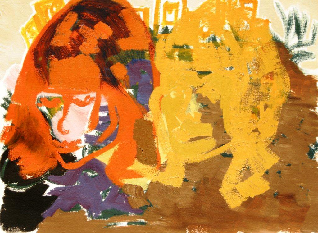 Oil on primed watercolour paper H 56cm x W 76cm