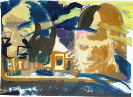 Oil on primed paper H 55cm x W 74cm