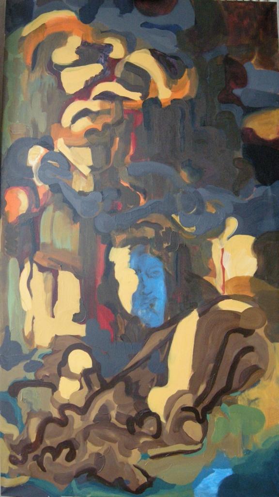 Oil on canvas H183cm x W101cm