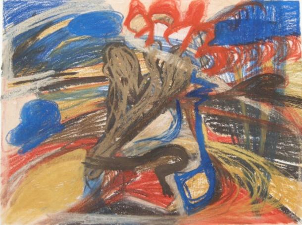 Pastel drawing H 40cm x W54cm
