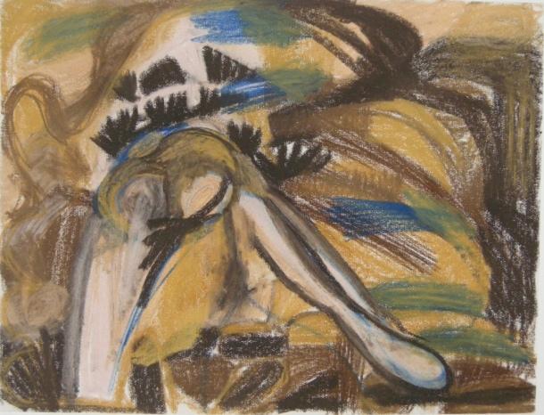 Pastel drawing H 50cm x W65cm