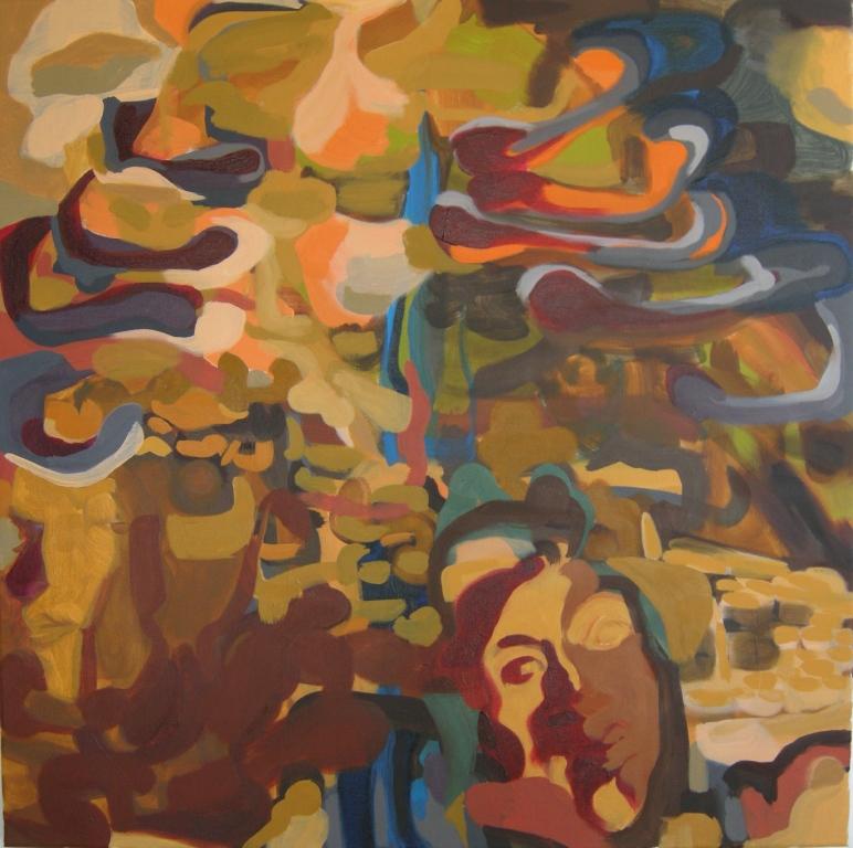 Oil on canvas H 100cm x W 100cm