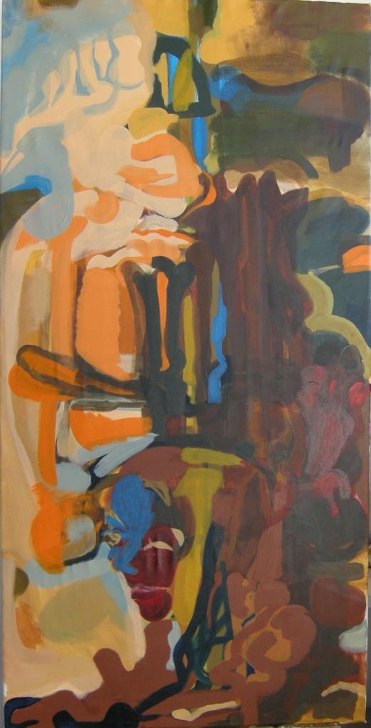 Oil on canvas H 150cm x W 75cm