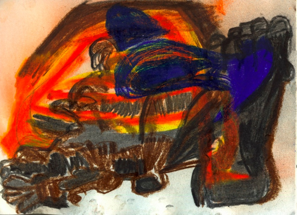 Pastel drawing H 21cm x W 29cm