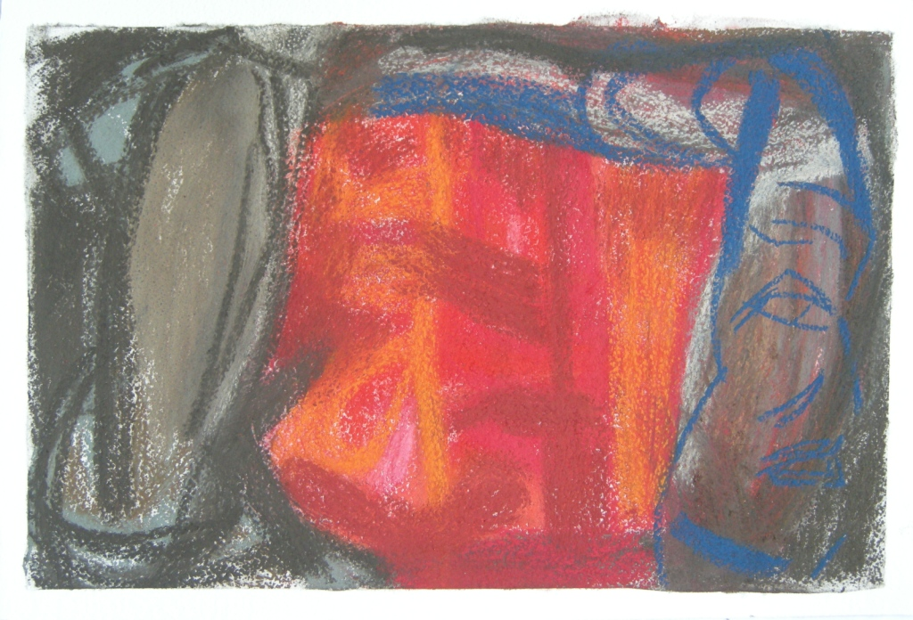pastel drawing H 38cms x W 57cms