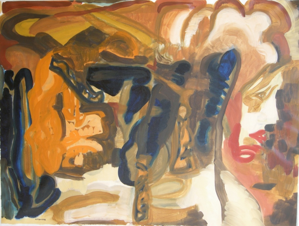Oil on canvas, H 75cm x W 100cm