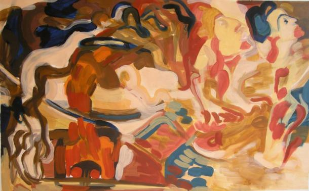 Victoria Ballant, Oil on canvas, H65cm x W 105cm