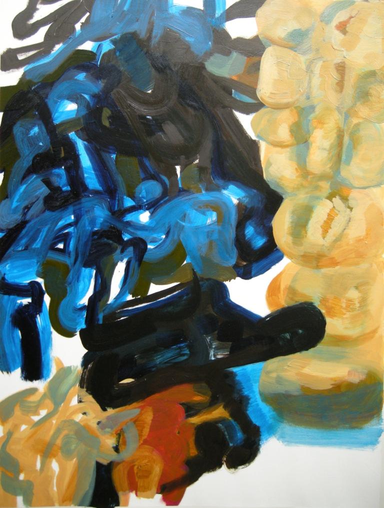 ephemeral 1st draft, Oil on Watercolour Paper, H 72cm x W 54cm