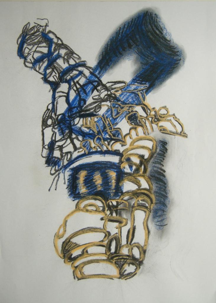 ephemeral 2nd draft, Drawing, H 88cm x W 56cm