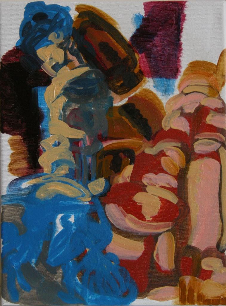 ephemeral 4th draft, Oil on Canvas, H 40cm x W30cm