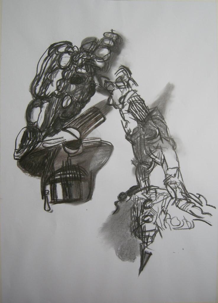 ephemeral 5th draft, Drawing H 80cm x W 57cm