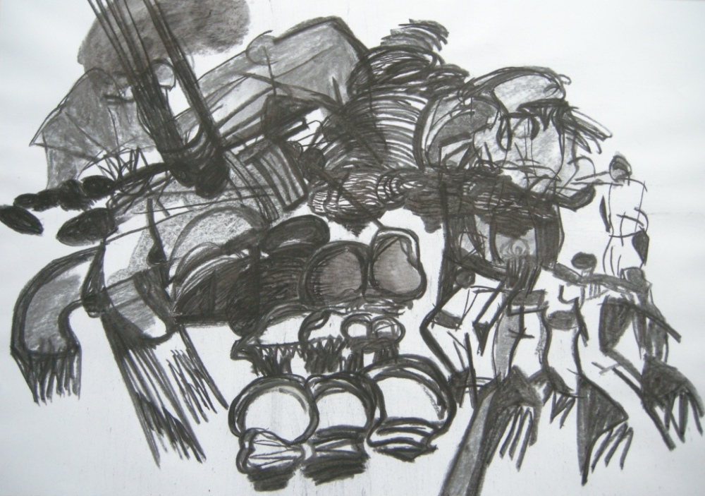 6th draft, Drawing, H 56cm x W 80cm