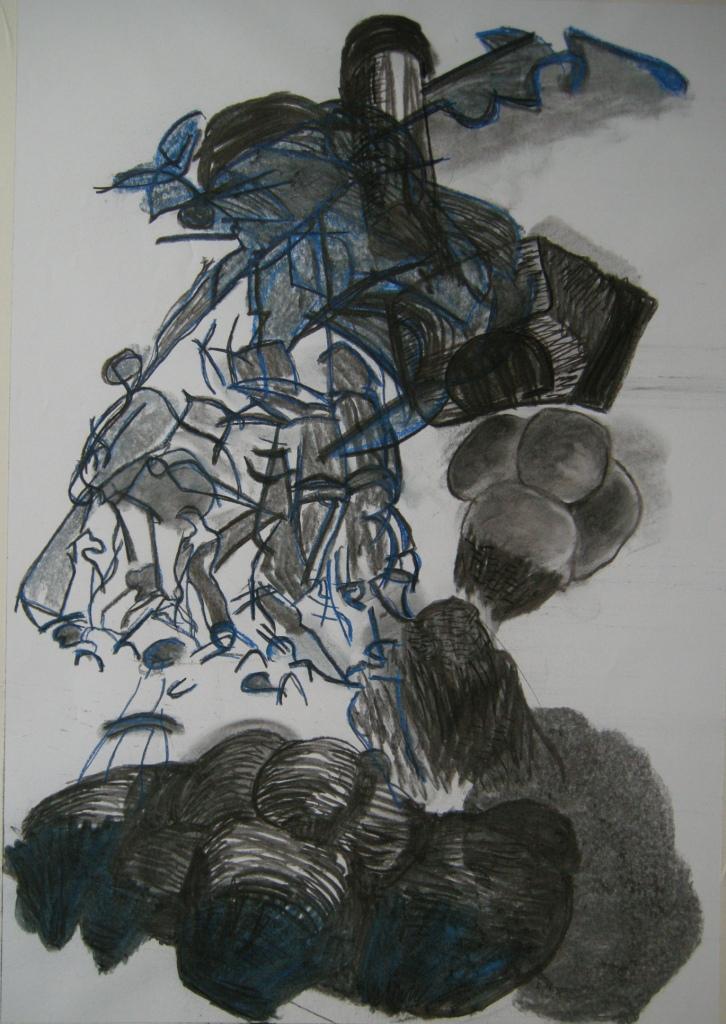 ephemeral 8th draft, Drawing H 80cm x W 56cm