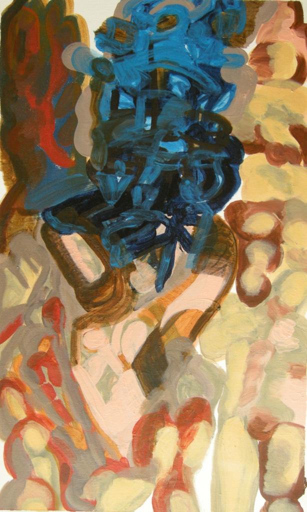 ephemeral draft 9, Oil on canvas H 62cm x W 37cm