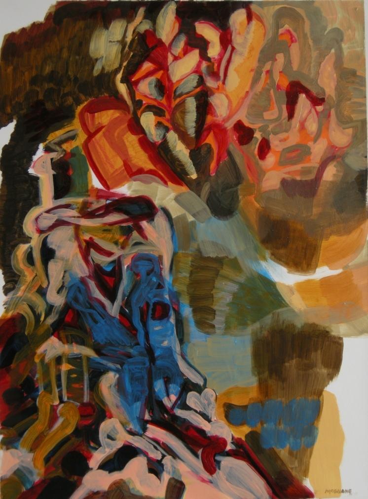 'Ephemeral' draft 11, Oil on primed watercolour paper, H 72cm x W 54cm