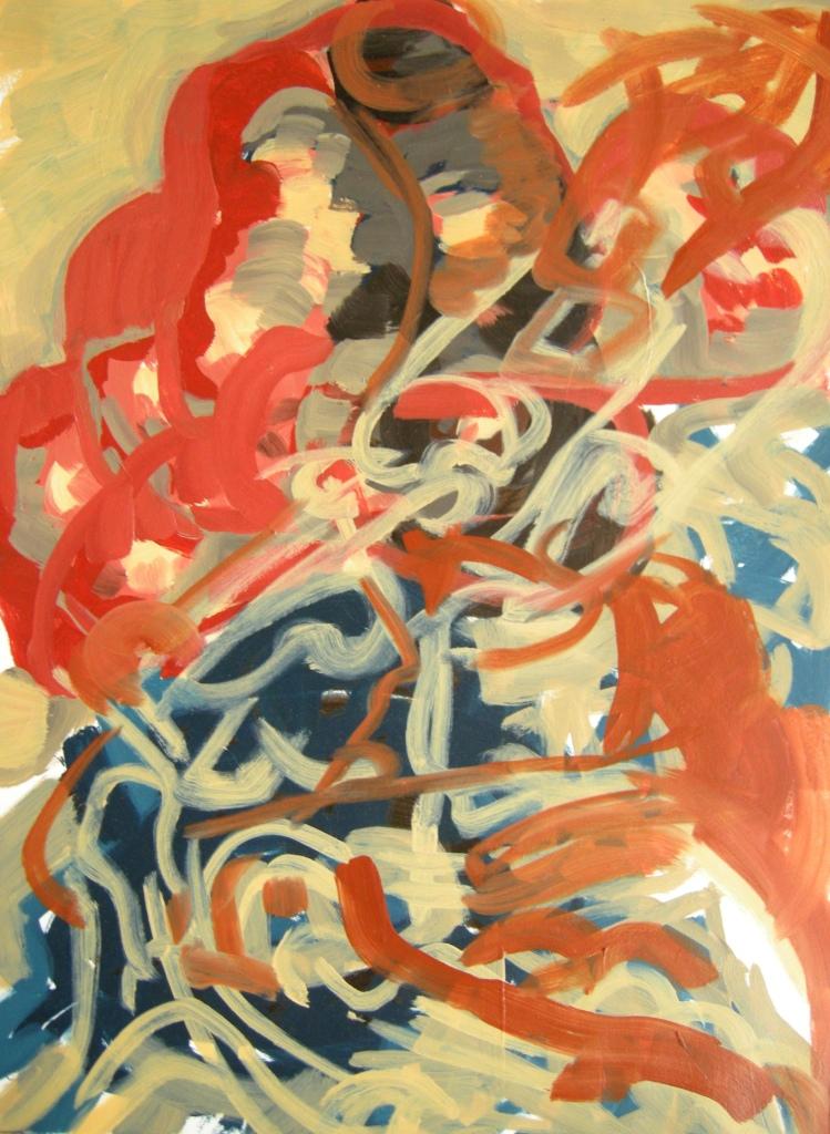 'Ephemeral' draft 12, Oil on Primed paper H 72cn x W 54cm