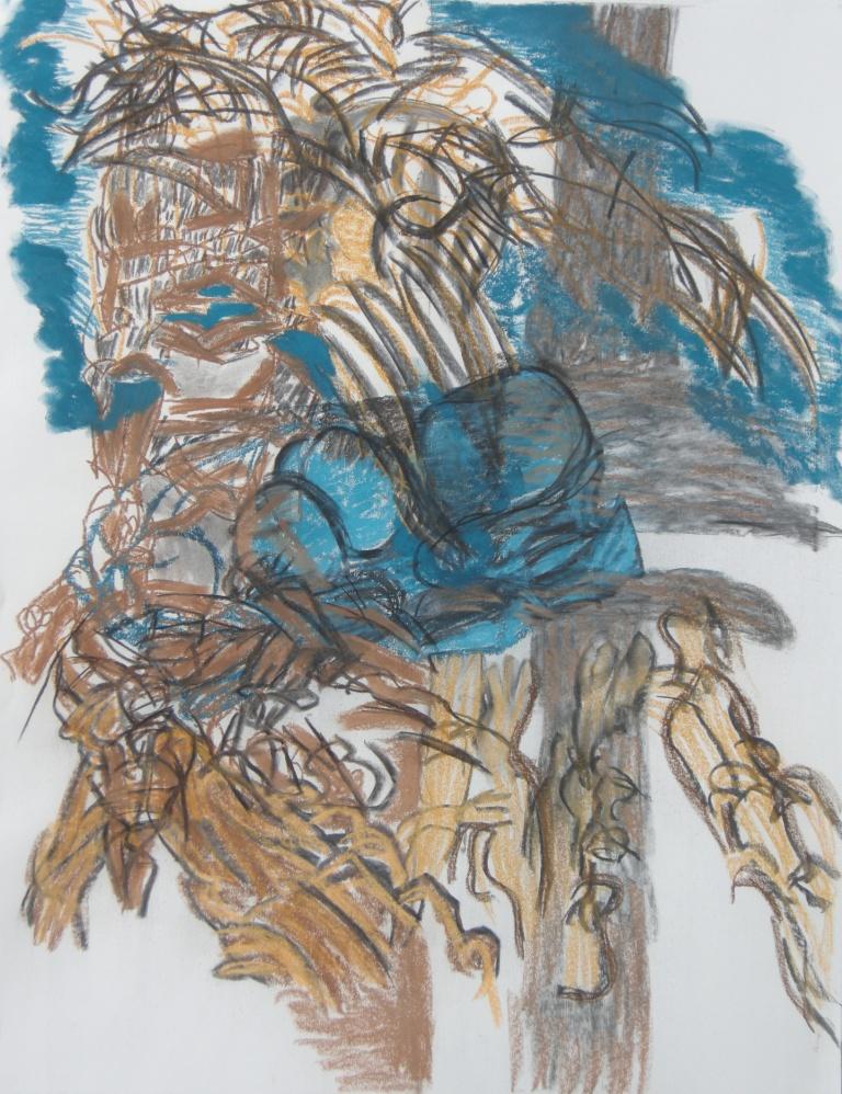 Variation 2 charcoal & pastel drawing H 114cm x W84cm