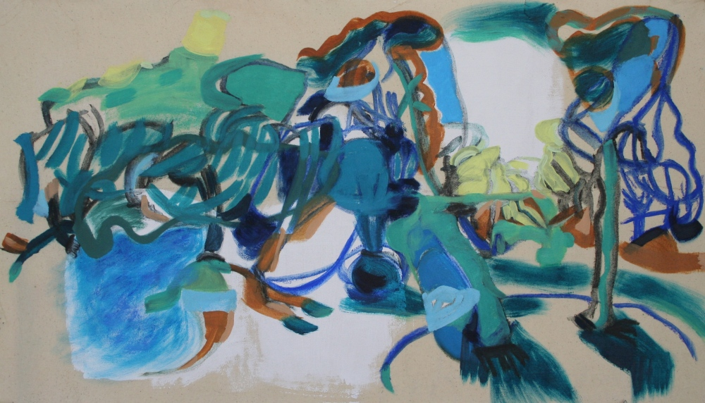 Oil on canvas, H 42cm x W 73cm
