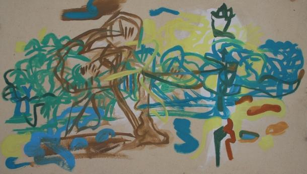 Oil on canvas, H 41cm x W 70cm