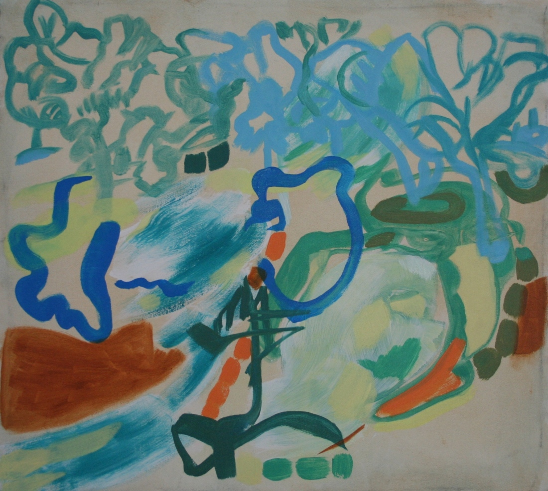 Oil on canvas, H 46cm x W 50cm