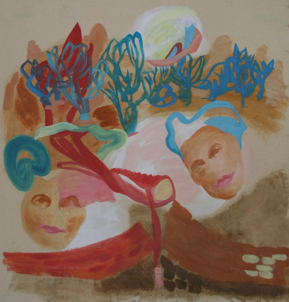 Oil on canvas, H 80cm x W 80cm