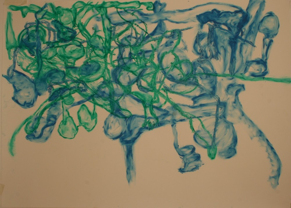 Drawing, Oil Bar on paper, H 73cms x W102cms
