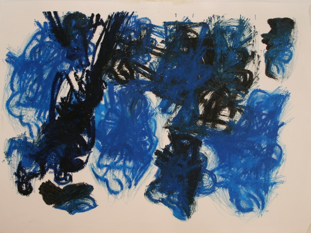 Drawing, Oil Bar on primed paper, H 55cms W 75cms