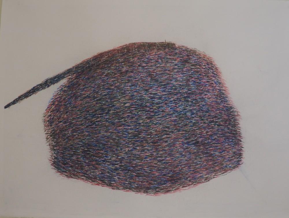 Pastel drawing; H 70cm X W 100cm